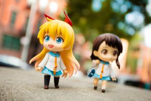 Nendoroid Chitoge and Onodera by frasbob