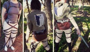 Costume: SnK Harness and Survey Corps Uniform Det by Khallandra