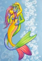 WrasseMerCouple Oo La La by Mermaid-Kalo
