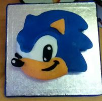 Classic Sonic Cake by MissTangshan95