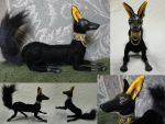 Anubis Poseasble Art Doll by Lufirel