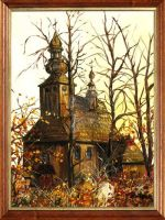 A church in autumn by JoannaPartyka