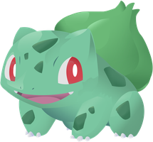 Bulbasaur Vector Lineless: 001 by AgentLiri