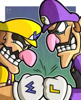 Wario and Waluigi by WhyDesignStudios