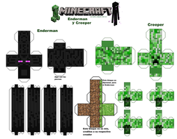 Ender-Man y Creeper PAPERCRAFT by GLaDOSHeroes2000