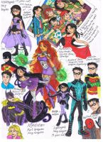 DC Comics Sketches Color Version by AimiisLoveBeautiful
