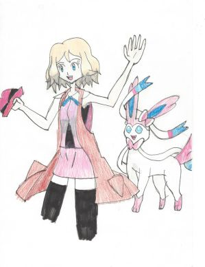 Serena and her Sylveon by Pikafan09