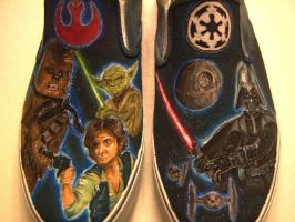 Star Wars Shoes by SpiceChickNick
