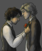 enjolras x grantaire by runningfern