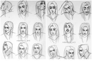Facial expression study 3 and 4 by RavenDANIELS