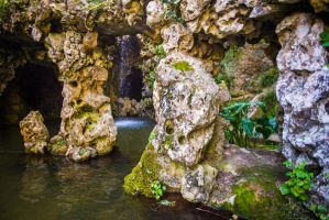 Mermaid's Grotto background stock by little-spacey
