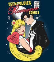 Teen Soldier Romance Comics - Tee version by DiHA-Artwork