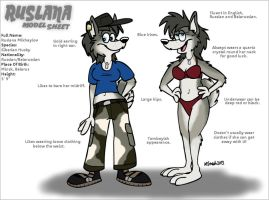 Ruslana Model Sheet by FreyFox