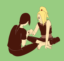 Itachi and Deidara by steampunkskulls