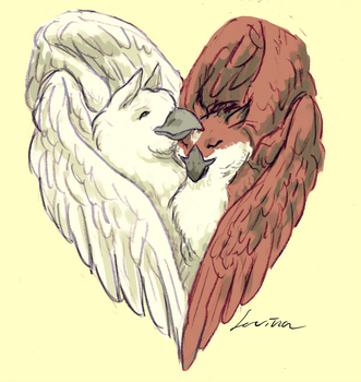 Lovebirds by nefartari