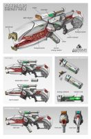 Commission: Auman Energy Rifle. by aiyeahhs