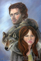 The King in the North and his Queen. by Valk-Abarai