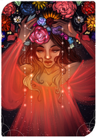 Commission:Tarot Card The Stars by AlexielApril