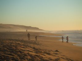 People at Guadalupe Beach by BambooKnight