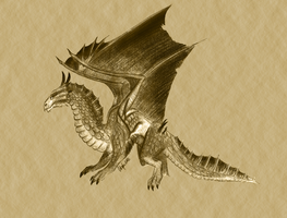 Bronze Dragon by Oatsprite