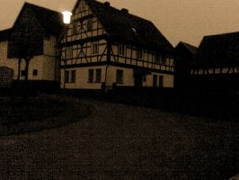 Village at twilight - Sepia 2 by 2Crazy4Nick