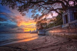Sunrise of Gurney drive beach, Penang by fighteden