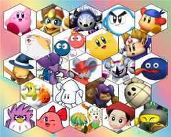 SSB4 Kirby Series Roster by The-Koopa-of-Troopa