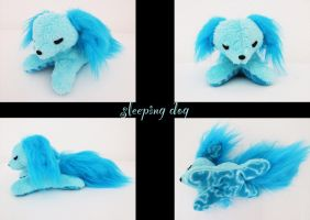 Sleeping dog plush by nfasel