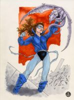 Shadowcat Sketch by BrettBarkley