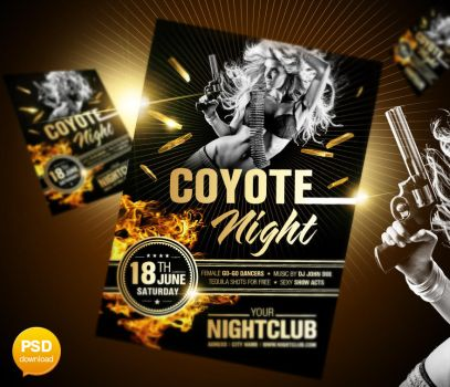Coyote Night Flyer Template by Party-Flyer