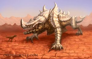 Desert Kaiju - Lord of Bones by CrystalSully