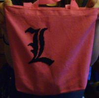 Death Note Tote Bag- L by missy-tannenbaum