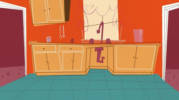 Stylized Kitchen BG  by PasqualeCaldora