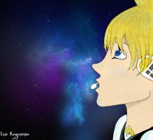 Len Kagamine - Singing to the Stars by Shadow--9