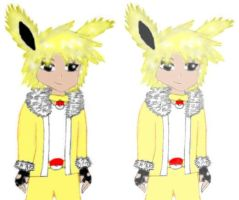 Human Jolteon colored by MikariStar