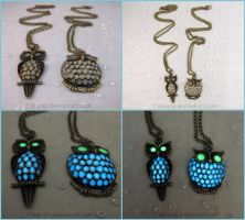 Twilight Night Owl - Glow in the Dark Charm by Tsurera