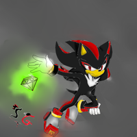 shadow with a chaos emerald by shadow--g