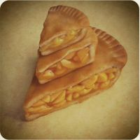 polymer clay peach pies by ScrumptiousDoodle