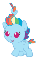 Baby Rainbow Dash by MarianHawke