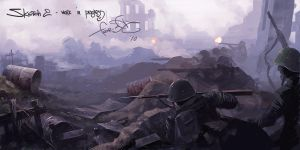Sketch B - Stalingrad Battle by fear-sAs