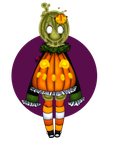 Halloween Adopt Batch 1 Ghost of The Pumpkin Patch by Just-A-Little-Vore