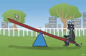 teeter totter by CrookedLynx