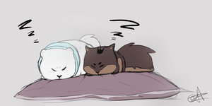 sleepy heads by iHazelis