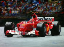 Ferrari F1 painting complete by Z-Vincent