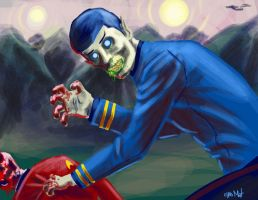 Zombie Spock by chrismoet