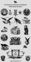 21 American Historical Emblems Brushes by gojol23
