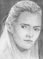 aceo, art trading card Legolas Lord of the Rings by BethannNg