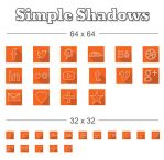 Free Icons - Simple Outline Long Shadows by johnhswork