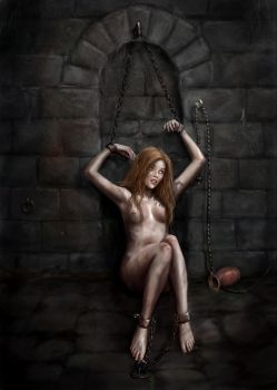 Lynn in the Dungeon by dashinvaine