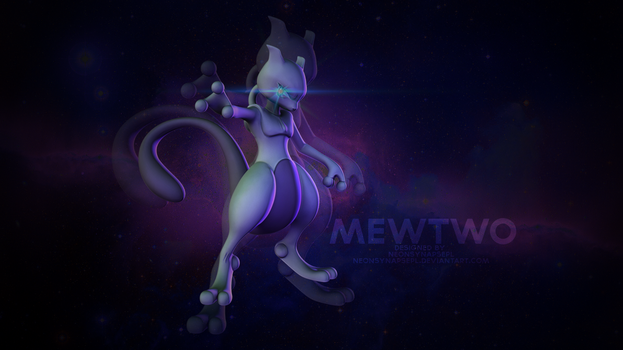 Mewtwo Wallpaper By NeonSynapsePL by NeonSynapsePL